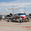 45 - American Eagle Embraer E145 on display at the 2012 Rockford Airfest - Chicago Rockford International Airport - Rockford Illinois - Sunday June 3rd 2012