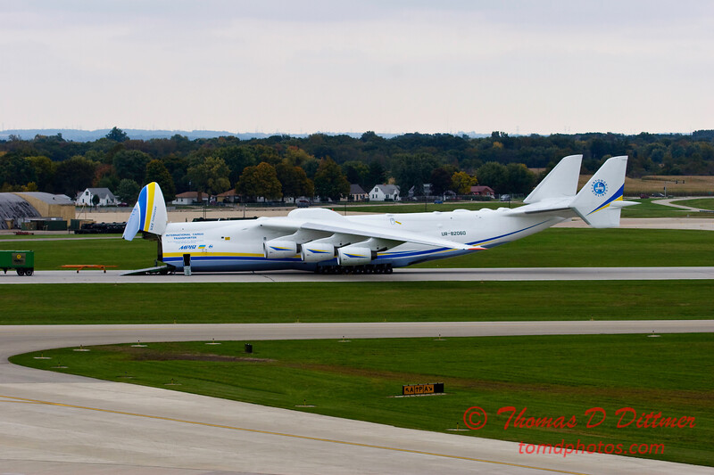 Antonov AN 225  at Peoria Illinois for Emergency Relief Mission to American Samoa - <br>  October 10, 2009 - 124