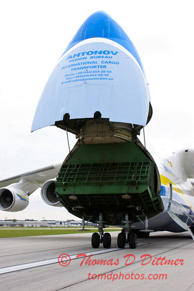 Antonov AN 225  at Peoria Illinois for Emergency Relief Mission to American Samoa - <br>  October 10, 2009 - 54