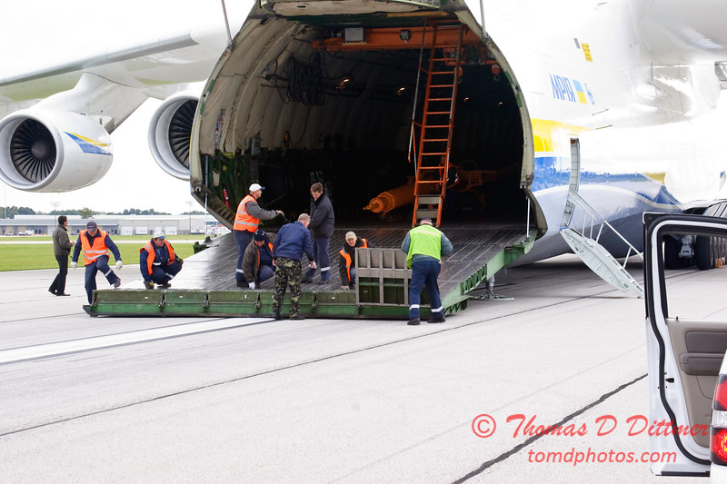 Antonov AN 225  at Peoria Illinois for Emergency Relief Mission to American Samoa - <br>  October 10, 2009 - 71