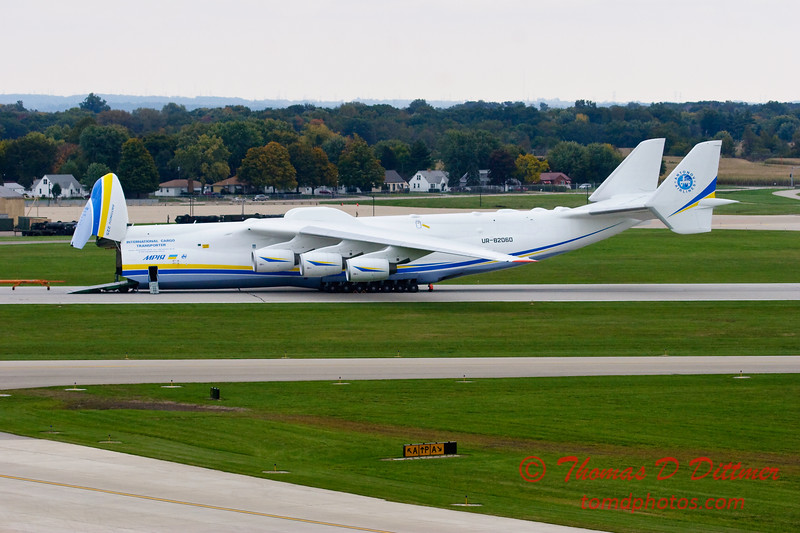Antonov AN 225  at Peoria Illinois for Emergency Relief Mission to American Samoa - <br>  October 10, 2009 - 123