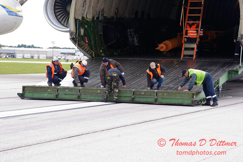 Antonov AN 225  at Peoria Illinois for Emergency Relief Mission to American Samoa - <br>  October 10, 2009 - 68