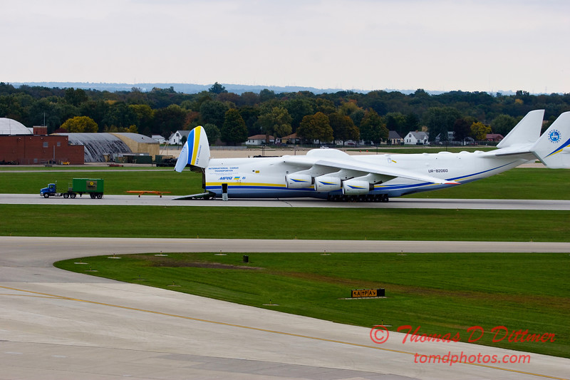 Antonov AN 225  at Peoria Illinois for Emergency Relief Mission to American Samoa - <br>  October 10, 2009 - 125