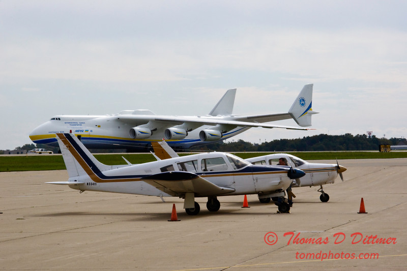 Antonov AN 225  at Peoria Illinois for Emergency Relief Mission to American Samoa - <br>  October 10, 2009 - 2