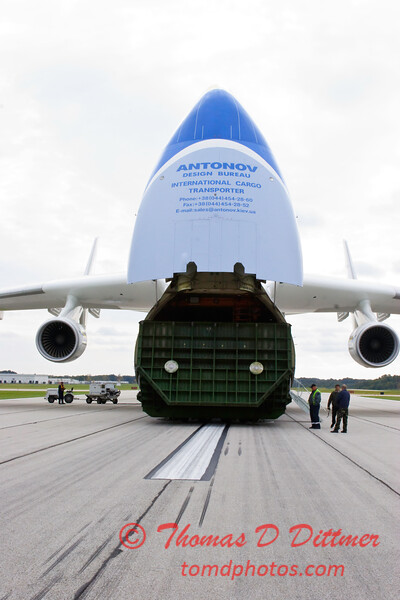 Antonov AN 225  at Peoria Illinois for Emergency Relief Mission to American Samoa - <br>  October 10, 2009 - 65