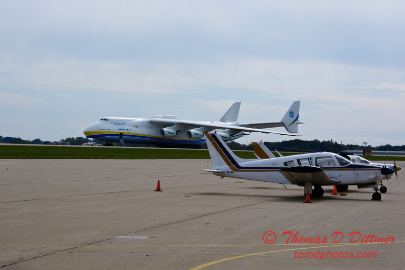 Antonov AN 225  at Peoria Illinois for Emergency Relief Mission to American Samoa - <br>  October 10, 2009 - 3