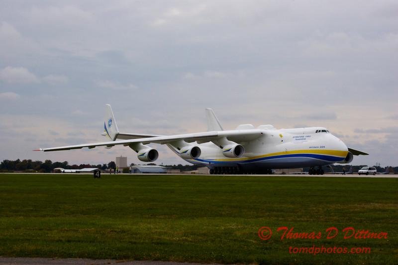 Antonov AN 225  at Peoria Illinois for Emergency Relief Mission to American Samoa - <br>  October 10, 2009 - 21