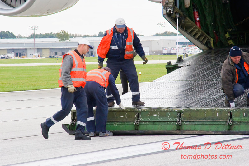 Antonov AN 225  at Peoria Illinois for Emergency Relief Mission to American Samoa - <br>  October 10, 2009 - 73