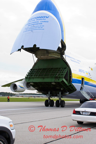 Antonov AN 225  at Peoria Illinois for Emergency Relief Mission to American Samoa - <br>  October 10, 2009 - 52