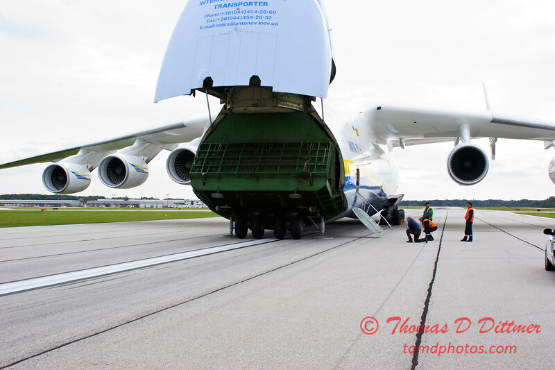 Antonov AN 225  at Peoria Illinois for Emergency Relief Mission to American Samoa - <br>  October 10, 2009 - 57