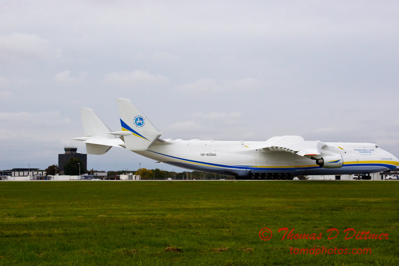 Antonov AN 225  at Peoria Illinois for Emergency Relief Mission to American Samoa - <br>  October 10, 2009 - 32