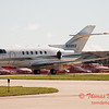 26 - Hawker/Beechcraft 800XP taxies for departure at Wings over Waukegan 2012