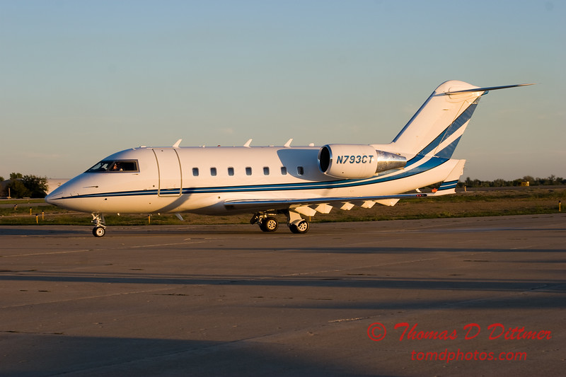 N793CT taxies to hangar - Greater Peoria Regional Airport - Peoria Illinois - September 26th 2007 - 4