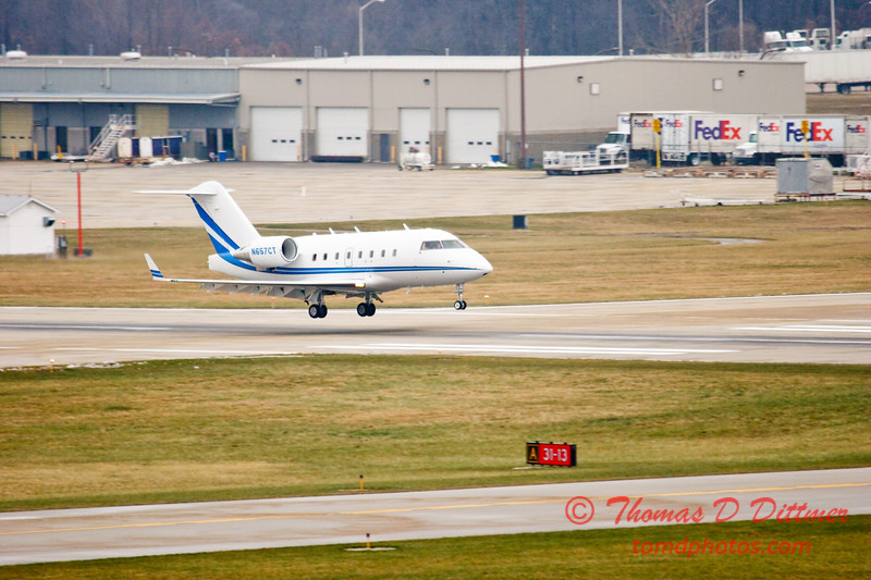 N657CT - Greater Peoria Regional Airport - Peoria Illinois - December 13th 2009 - 2