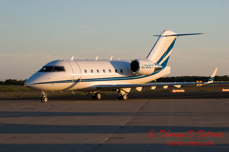 N793CT taxies to hangar - Greater Peoria Regional Airport - Peoria Illinois - September 26th 2007 - 2