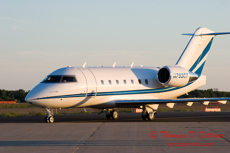 N793CT taxies to hangar - Greater Peoria Regional Airport - Peoria Illinois - September 26th 2007 - 1