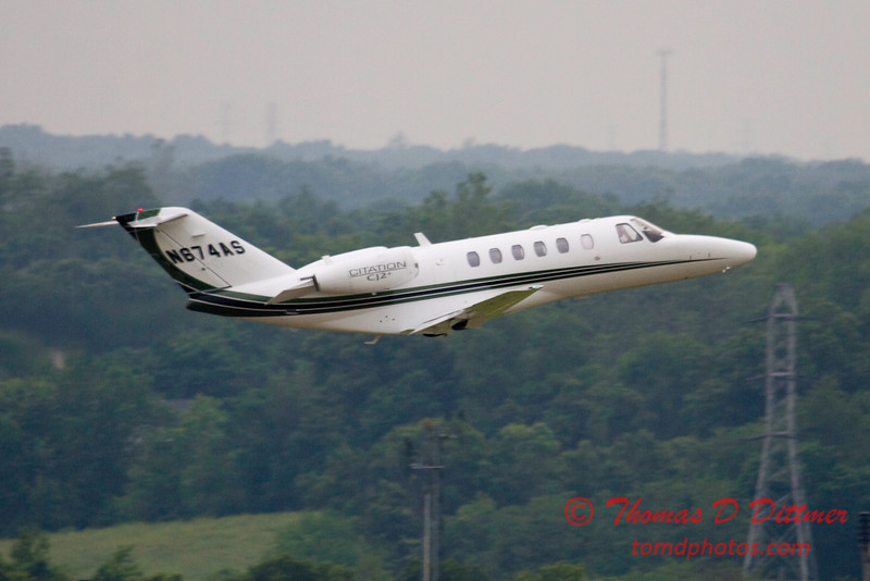 N674AS - C525 - Citation - Peoria Regional Airport - Peoria Illinois - June 3 2009 - 7