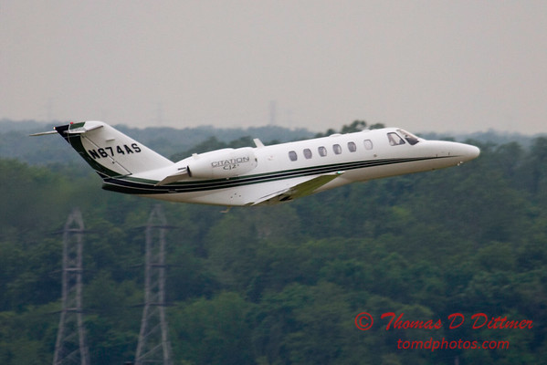 N674AS - C525 - Citation - Peoria Regional Airport - Peoria Illinois - June 3 2009 - 8