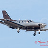 34 - A TBM 700 approaches Runway 20 for landing at Central Illinois Regional Airport - Bloomington Illinois - Sunday March 9th 2014