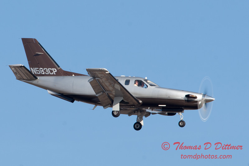 36 - A TBM 700 approaches Runway 20 for landing at Central Illinois Regional Airport - Bloomington Illinois - Sunday March 9th 2014