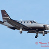 35 - A TBM 700 approaches Runway 20 for landing at Central Illinois Regional Airport - Bloomington Illinois - Sunday March 9th 2014