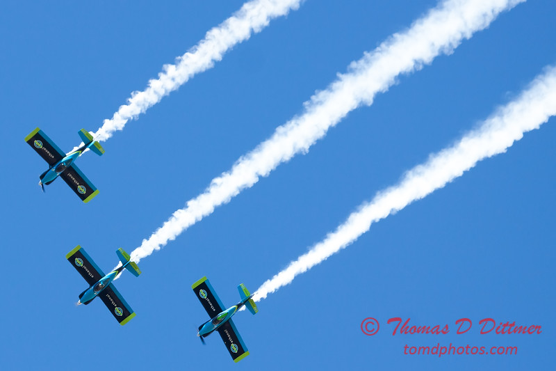 127 - The Vanguard Squadron perform in their ethanol powered RV3's at the South East Iowa Air Show in Burlington Iowa