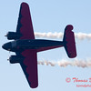 """896 - Matt Younkin performs for fans in his Beechcraft BE18 """"Twin Beech"""" at the South East Iowa Air Show in Burlington Iowa"""