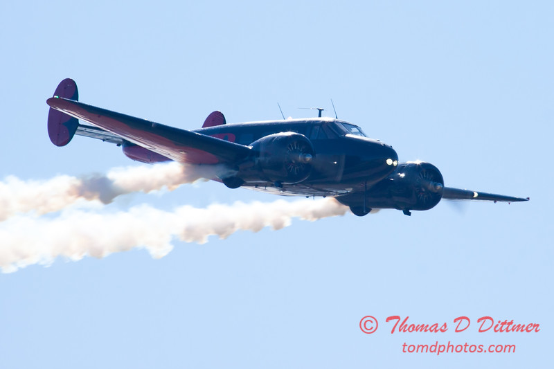 "863 - Matt Younkin performs for fans in his Beechcraft BE18 ""Twin Beech"" at the South East Iowa Air Show in Burlington Iowa"