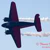 """895 - Matt Younkin performs for fans in his Beechcraft BE18 """"Twin Beech"""" at the South East Iowa Air Show in Burlington Iowa"""