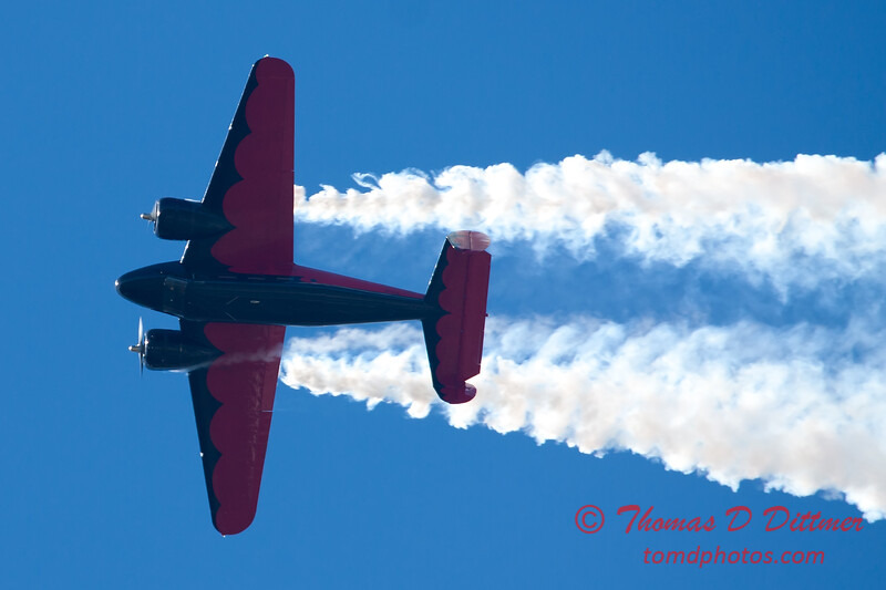 "875 - Matt Younkin performs for fans in his Beechcraft BE18 ""Twin Beech"" at the South East Iowa Air Show in Burlington Iowa"