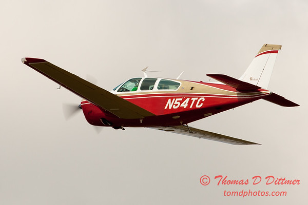 55 - A Beechcraft Bonanza F33A departs Wings over Waukegan 2012