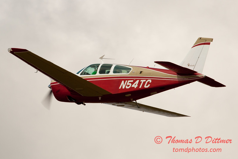 54 - A Beechcraft Bonanza F33A departs Wings over Waukegan 2012