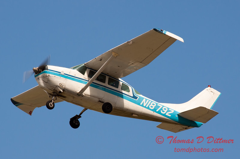 59 - The Liberty Parachute Team in their Cessna C210 Centurion depart Wings over Waukegan 2012