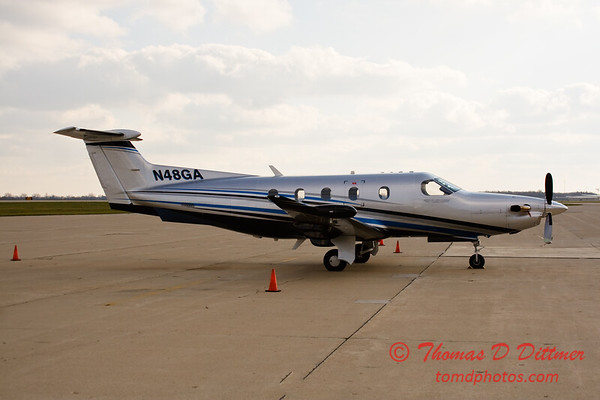 N48GA - Byerly Ramp - Greater Peoria Regional Airport - Peoria Illinois - December 3rd 2009 - 4