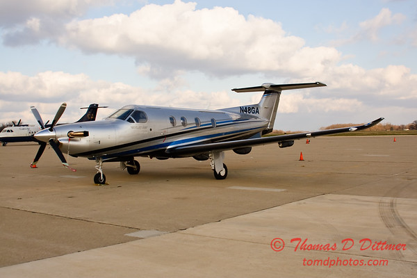 N48GA - Byerly Ramp - Greater Peoria Regional Airport - Peoria Illinois - December 3rd 2009 - 10