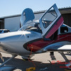 28 - A Cirrus SR22 outside a hangar at the South East Iowa Air Show in Burlington Iowa