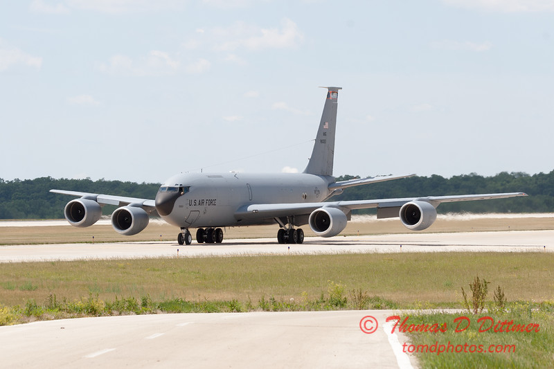 509 - US Air Force KC 135 taxiies to parking at the 2012 Rockford Airfest - Chicago Rockford International Airport - Rockford Illinois - Sunday June 3rd 2012