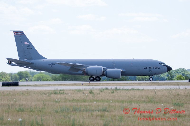 482 -  US Air Force KC 135 lands after the aerial demonstration at the 2012 Rockford Airfest - Chicago Rockford International Airport - Rockford Illinois - Sunday June 3rd 2012