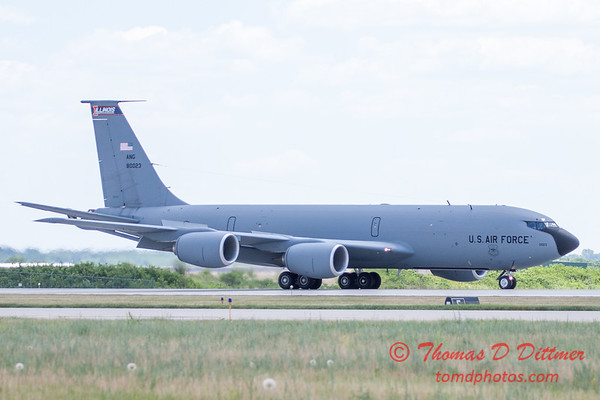 477 -  US Air Force KC 135 lands after the aerial demonstration at the 2012 Rockford Airfest - Chicago Rockford International Airport - Rockford Illinois - Sunday June 3rd 2012
