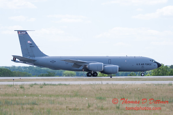 484 -  US Air Force KC 135 lands after the aerial demonstration at the 2012 Rockford Airfest - Chicago Rockford International Airport - Rockford Illinois - Sunday June 3rd 2012