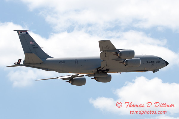 440 -  US Air Force KC 135 aerial demonstration at the 2012 Rockford Airfest - Chicago Rockford International Airport - Rockford Illinois - Sunday June 3rd 2012