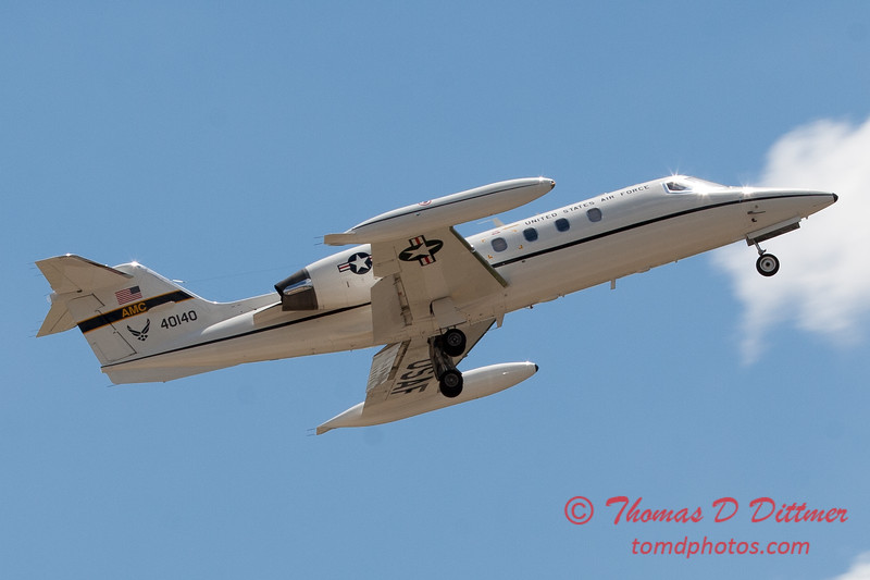 615 - US Air Force C21 departs the 2012 Rockford Airfest - Chicago Rockford International Airport - Rockford Illinois - Sunday June 3rd 2012