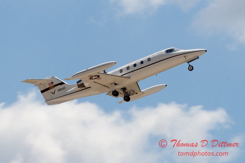 611 - US Air Force C21 departs the 2012 Rockford Airfest - Chicago Rockford International Airport - Rockford Illinois - Sunday June 3rd 2012