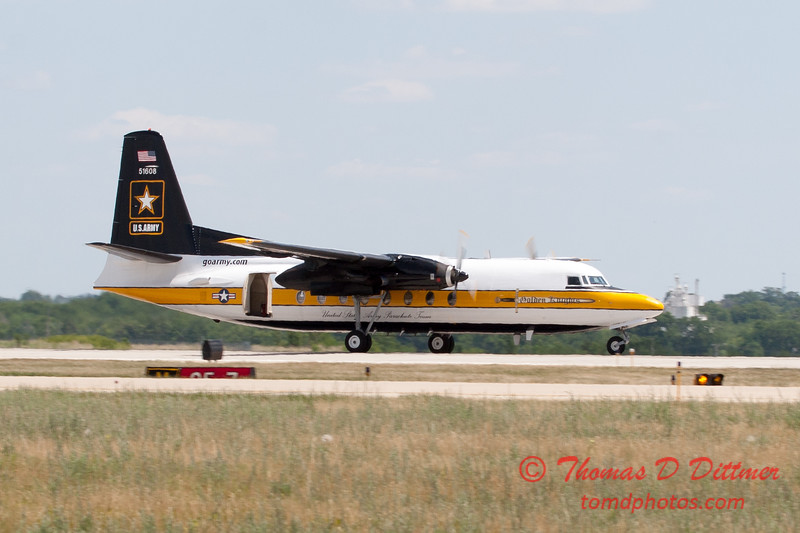 939 - The US Army Golden Knights F27 Friendship at the 2012 Rockford Airfest - Chicago Rockford International Airport - Rockford Illinois - Sunday June 3rd 2012
