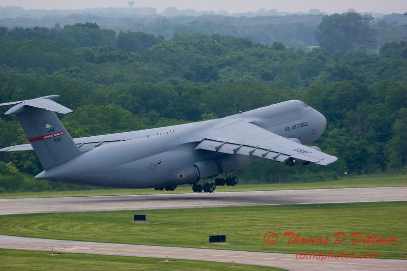 C5A Galaxy departs Peoria Illinois - June 3 2009 - 33