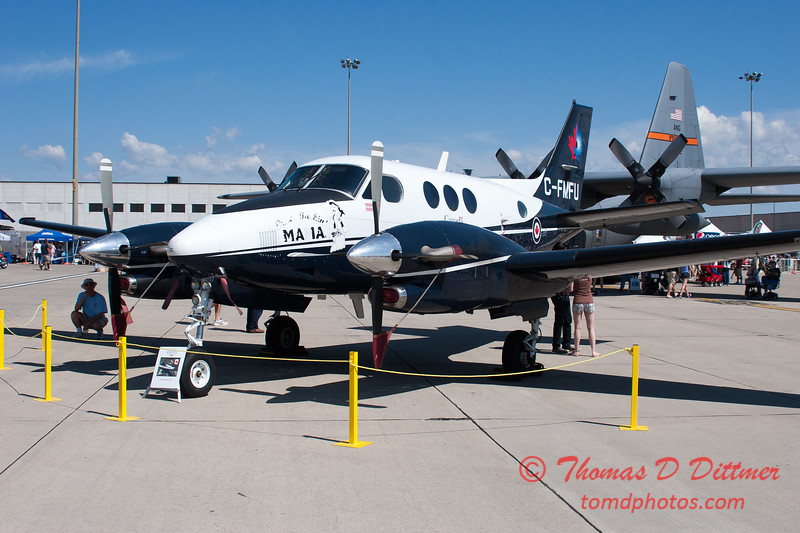 47 - Canadian Forces C90A King Air on display at the 2012 Rockford Airfest - Chicago Rockford International Airport - Rockford Illinois - Sunday June 3rd 2012