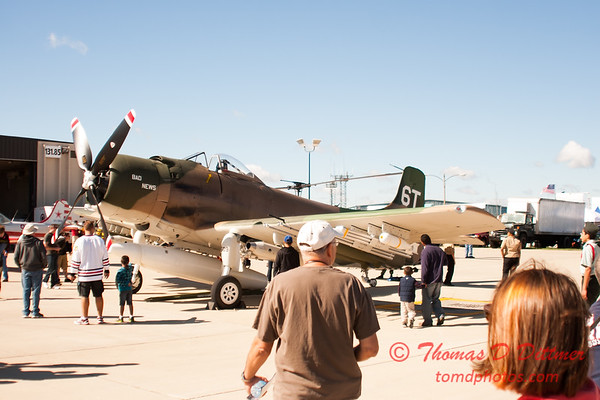 33 - Douglas A-1 Skyraider on display at Wings over Waukegan 2012