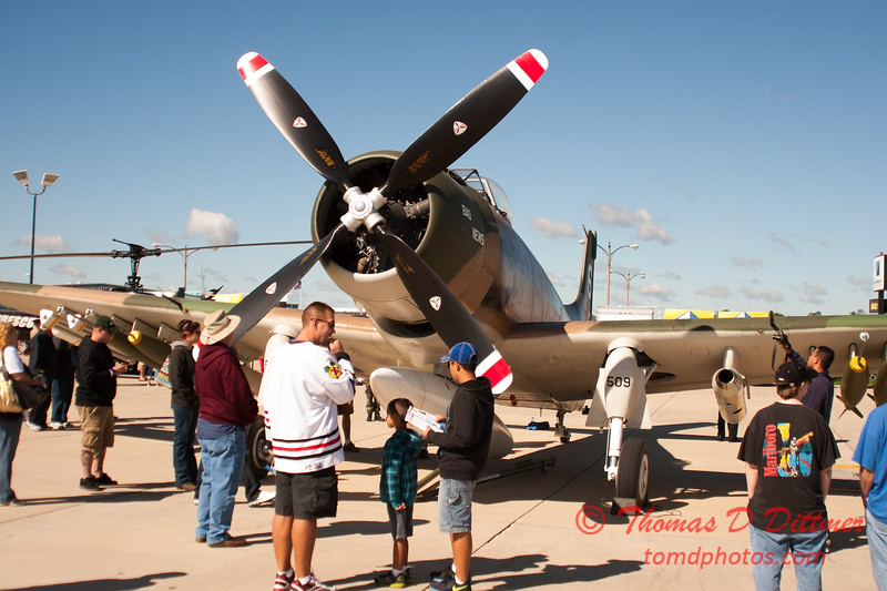 37 - Douglas A-1 Skyraider on display at Wings over Waukegan 2012