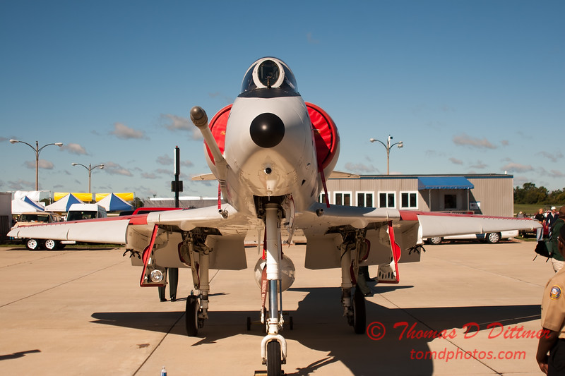 36 - Douglas A-4 Skyhawk on display at Wings over Waukegan 2012
