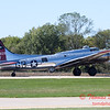 619 - B17 Flying Fortress returns and taxies for parking at the South East Iowa Air Show in Burlington Iowa